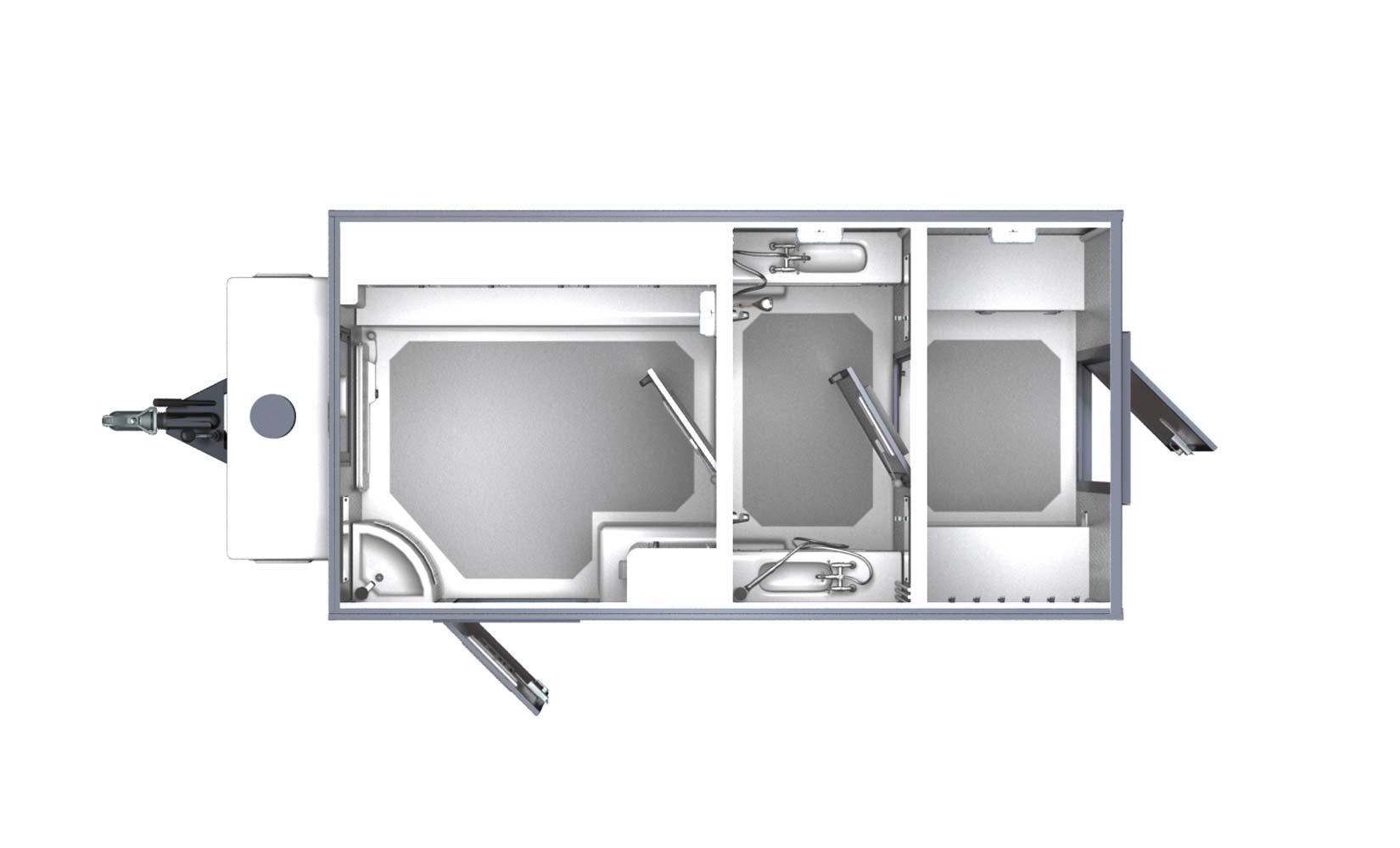 Twin Shower Decontamination Unit-149